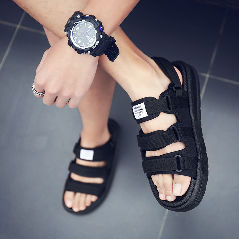 Sandals Man 2020 Cool Slipper Trend Personality Lovers Joker Motion Leisure Time Beach Shoes