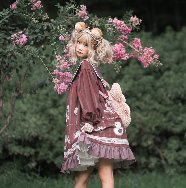 Фото милое платье в стиле «лолита» ретро с матросским воротником цена