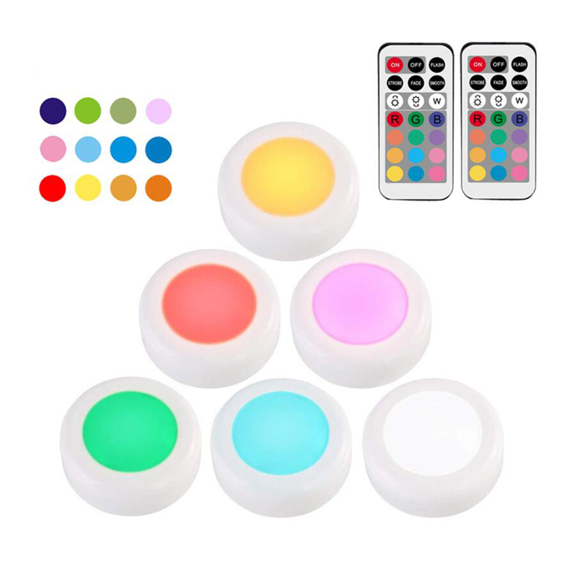 12 Color LED Light Wireless Remote Controller Battery Powered Touch Sensor Under Cabinet Lights For Kitchen Wall Lamp