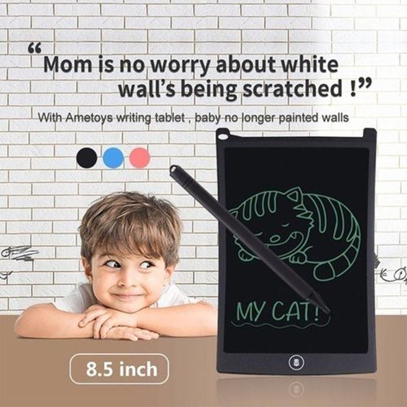 8.5 Polegada placa de desenho eletrônico lcd tela escrita tablet digital gráfico de desenho comprimidos eletrônico placa almofada escrita + caneta 4