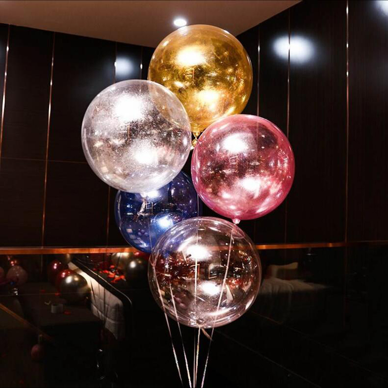 18 Inch Wedding Decoration Glitter Balloons DIY Transparent Balls Helium Big Bobo Round Ballons Wedding Party Decor PVC Baloon image