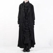 Chal con correa de cuerda de cáñamo, diseño pequeño y oscuro con abrigo largo