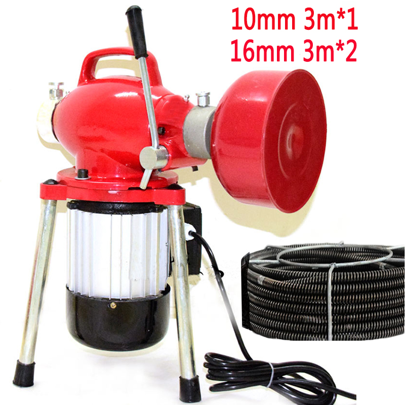 Automatic Dredge Machine Electric Pipe Dredging Sewer Tools Professional Clear Toilet Blockage Drain Cleaning Machine