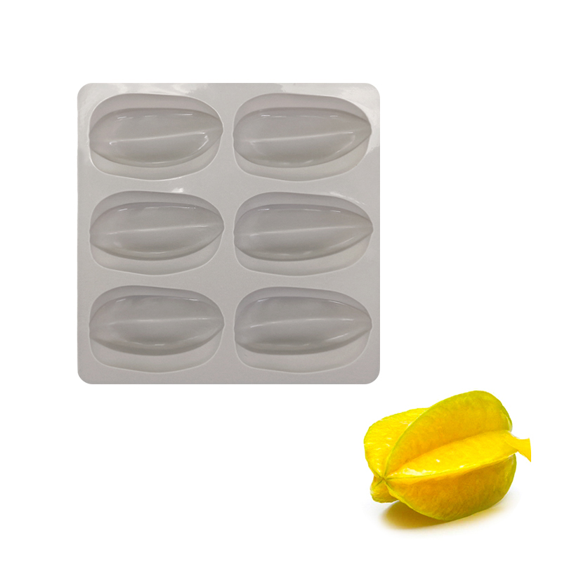 Silicone 6 Cavity Carambola shape Cake Mold Chocolate Fondant Bakeware Decoration Tool For Baking Dessert Tools|Cake Molds|Home & Garden - title=