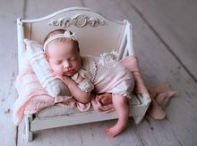 Newborn photography props new cute princess baby wooden bed photo artifact full moon photography prop  baby bed