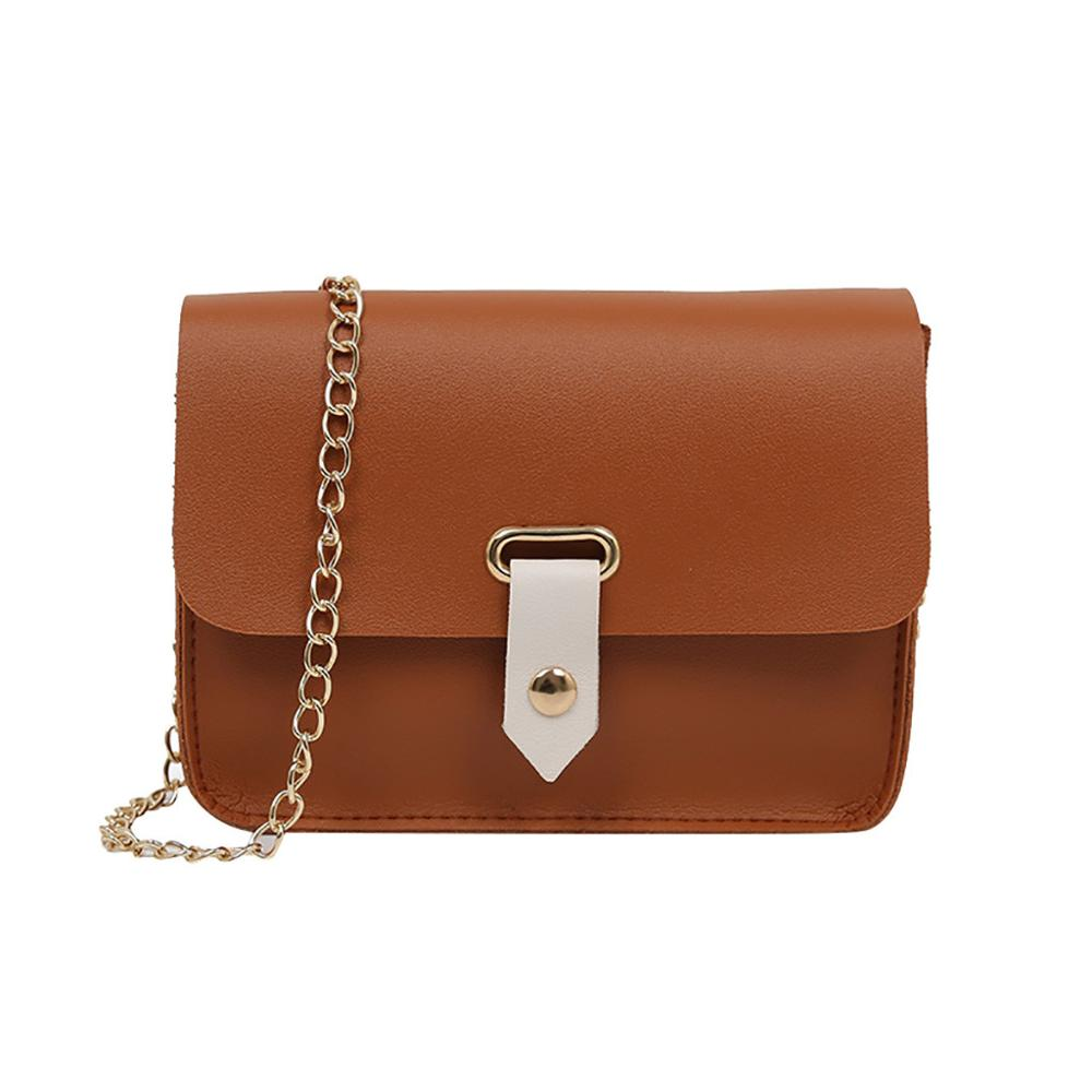 Women 39 s Fashion Simple Shoulder small bag for women solid color luxury designer chain Messenger Bag Wild Casual Small Square Bag in Shoulder Bags from Luggage amp Bags
