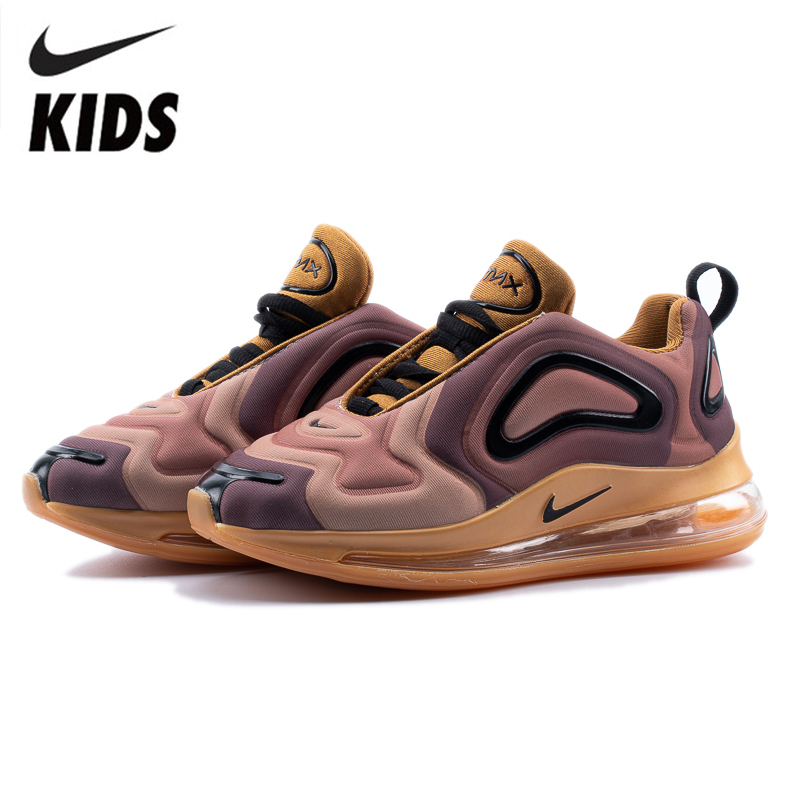 US $54.06 66% OFF|Nike Air Max 720 Kids Shoes Original New Arrival Children Running Shoes Comfortable Sports Air Cushion Sneakers #AO9294 700 on