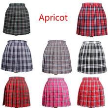 Школьные платья японских женщин Косплей плиссированная юбка клетчатая юбка девушки школьная форма юбка твердая Высокая талия юбка мини-юбки