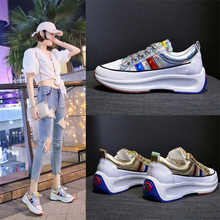 2019 fashion lace-up shoes for women breathable outdoor walking casual