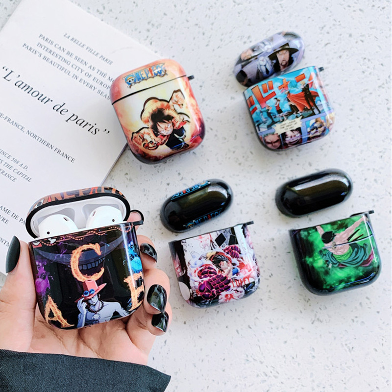 Japan Anime OP For AirPods Apple Case Manga One Piece Headphone Cases For Airpods 1 2 TPU IMD Case Accessories Protector Cover image