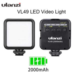 Ulanzi Video-Light Photographic-Lighting Cold-Shoe-Mount VL49 Mini 1/4-Screw 5500K LED