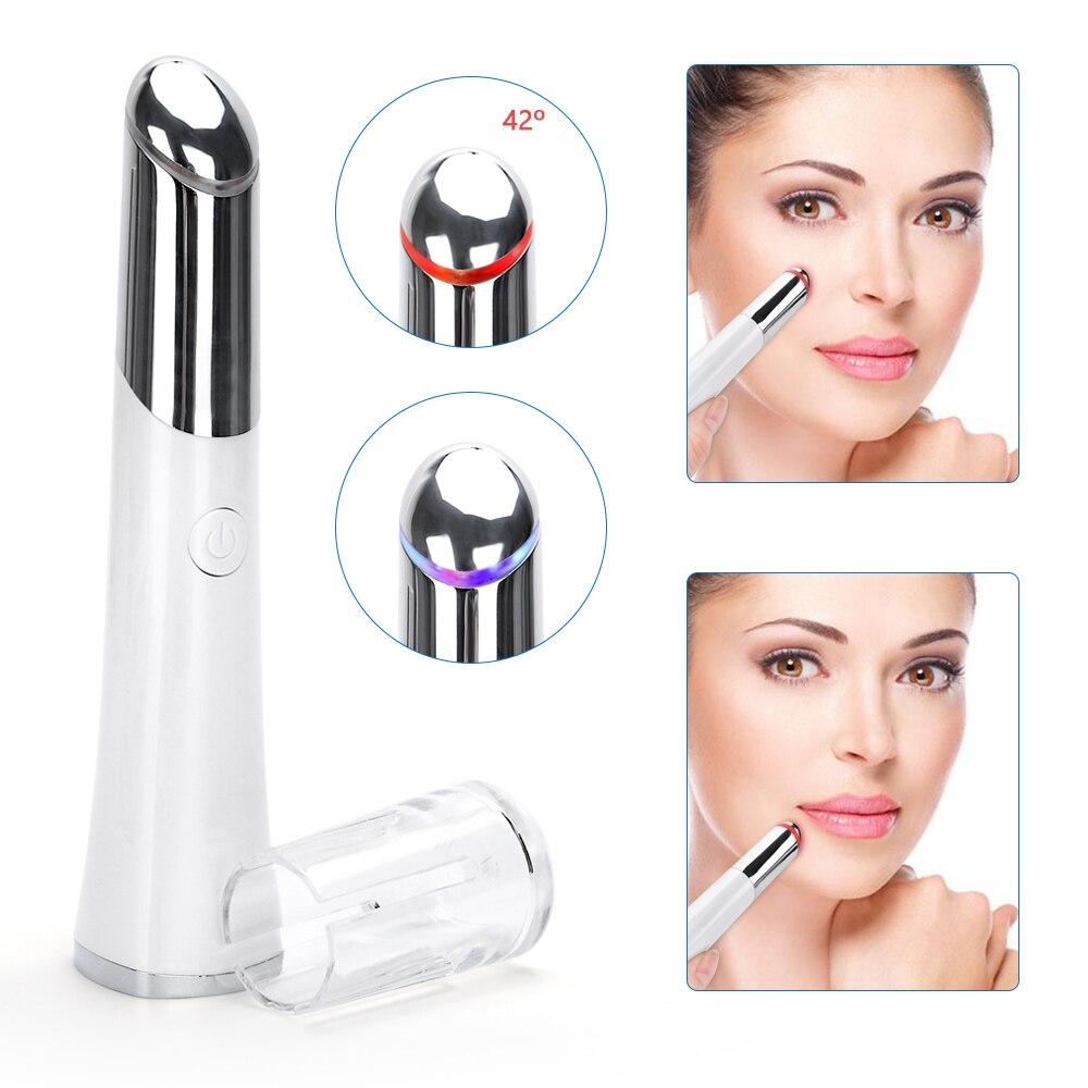Electric Eye Massage Pen Photon Temperature Sensitive Eye Instrument Wrinkle Eye Pouch Dark Circles Ionic Vibration Massager