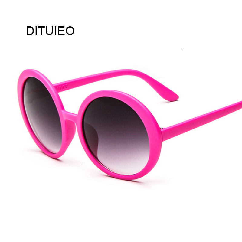 Round Sunglasses Women Vintage Classic Hip Hop Style Sun Glasses Female Brand Designer Double Bridge Pink Frame