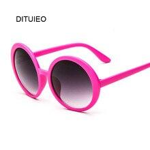 Gafas de sol redondas para mujer, anteojos de sol femeninos de estilo clásico Hip Hop, de marca de diseñador, con doble puente y montura rosa