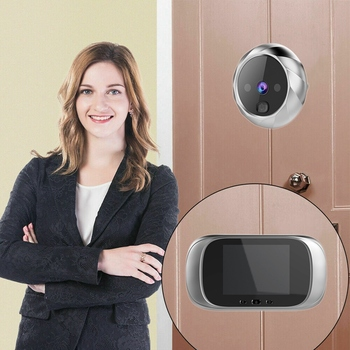 Doorbell Digital door peephole wifi Digital Doorbell Viewer 2.8Inch LED Screen 90 Degree Electronic Peephole Door Viewer saful 4 3 digital video door viewer with multi languages recordable peephole home sercurity with one wireless doorbell hot sale