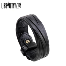 UBEAUTY Genuine Leather Bracelet Women Charm Bracelets & Ban