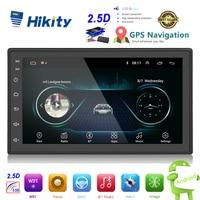 Hikity 2.5D Android 2din Car Multimedia MP5 Player Radio GPS Navi WIFI Autoradio 7'' Touch Screen Bluetooth FM Audio Car Stereo