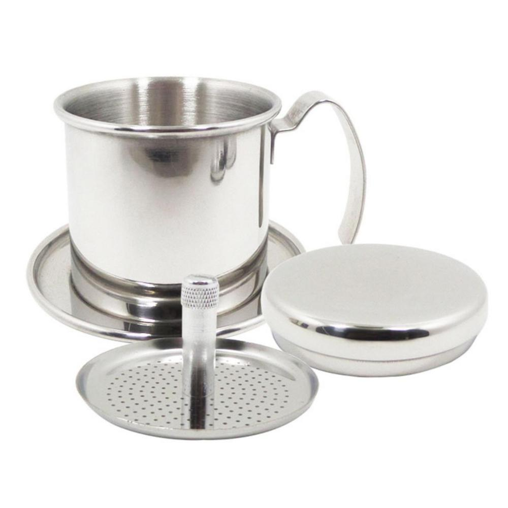 <font><b>Portable</b></font> <font><b>Stainless</b></font> <font><b>Steel</b></font> <font><b>Vietnam</b></font> <font><b>Coffee</b></font> <font><b>Dripper</b></font> Reusable Filter <font><b>Vietnam</b></font> <font><b>Coffee</b></font> Drip Pot <font><b>Dripper</b></font> Vietnamese <font><b>Coffee</b></font> Filter Cup image