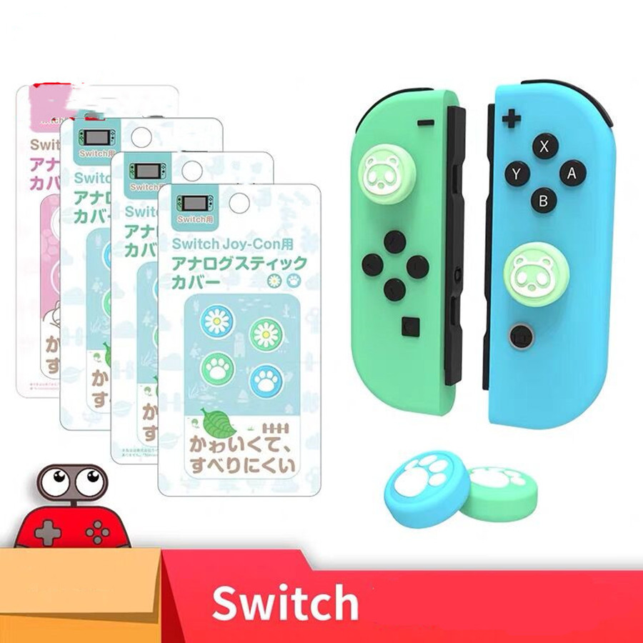 AnimalsCrossing Game Analog Caps Protective Rubber Cover Caps For NintendoSwitch /Switch Lite Joy-cons Joystick Controller Caps