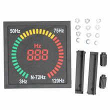 N-72HZ indicador de luz de señalización LED, medidor de frecuencia Hz CA 220V 3-120HZ, pantalla Digital