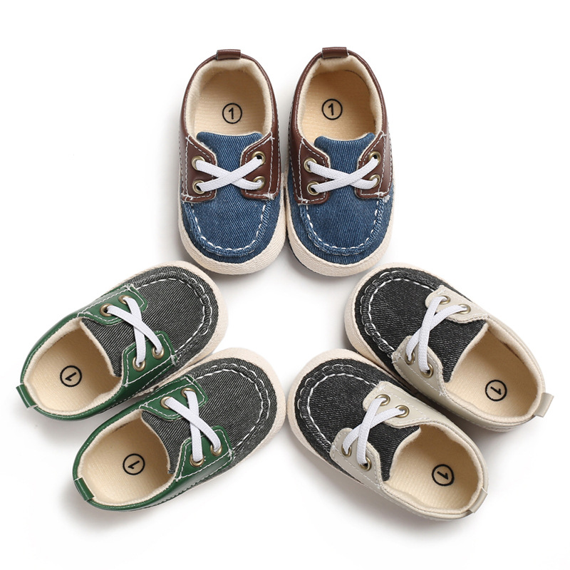 Baby Boys Girls First Walkers Shoes Newborn Football Kids Prewalkers Shoes