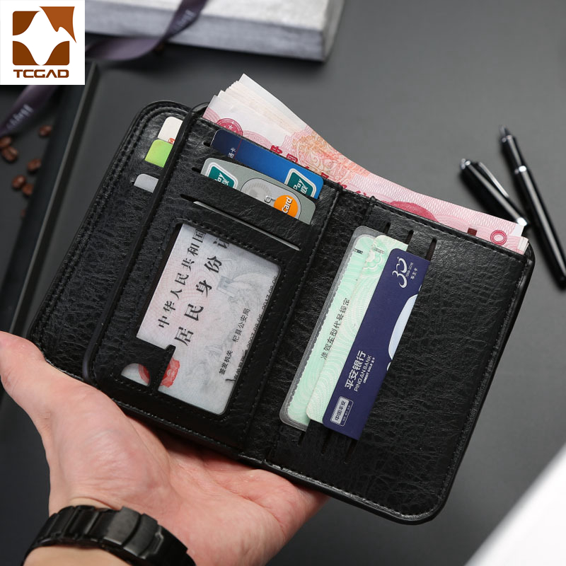 Leather Wallet Men's Carteira Wallets Retro Mens Wallet Leather Genuine Pocket  Men's Purse Compartment Slim Portafoglio Uomo