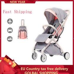 Lekki składany wózek dziecięcy 2 w 1 ze stopu aluminium może być w samolocie dzieci do wózka dla dziecka w Wózki z czterema kołami od Matka i dzieci na
