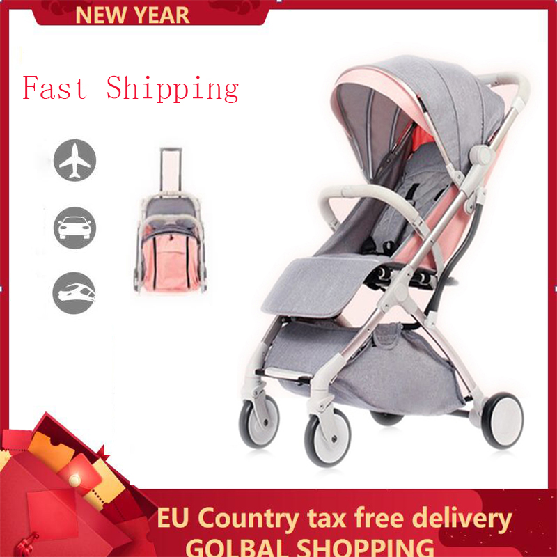 Lightweight Folding Baby Stroller 2 In 1 Aluminum Alloy Can Be On The Airplane Children Baby Pram