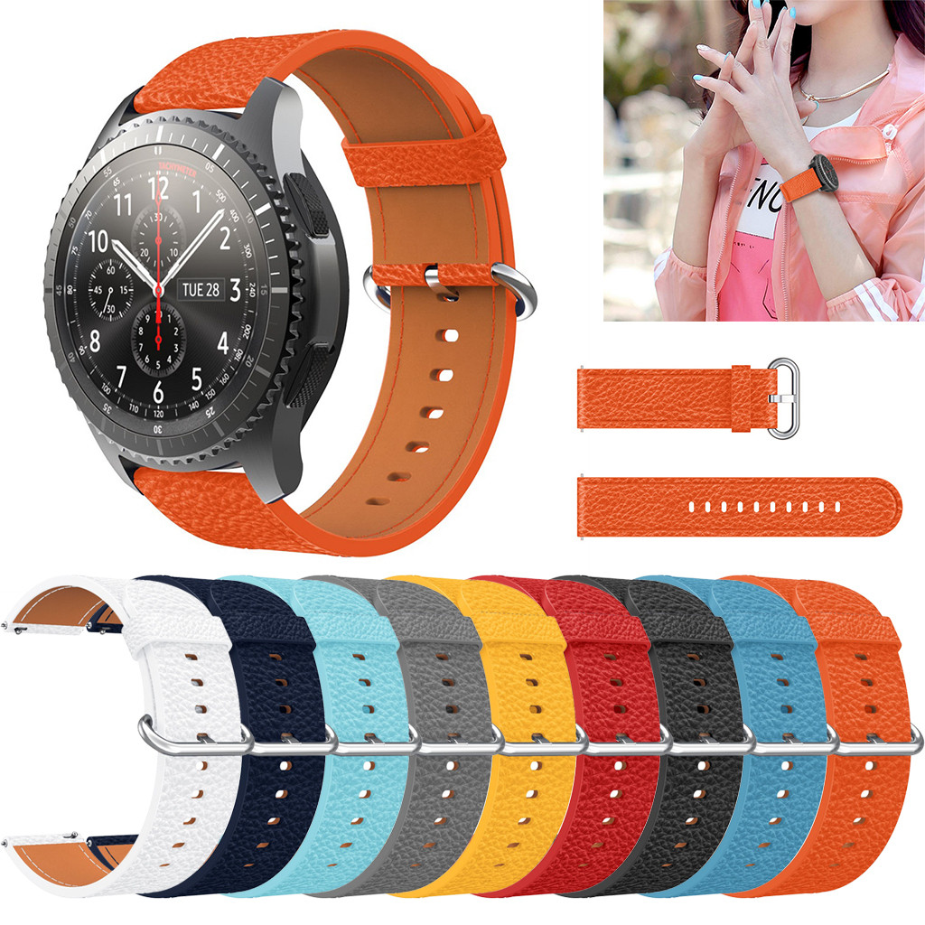 Watchbands Replacement Leather Watch Band Strap Bracelet For Samsung Galaxy Watch 46mm Replacement High Quality Watchbands#15