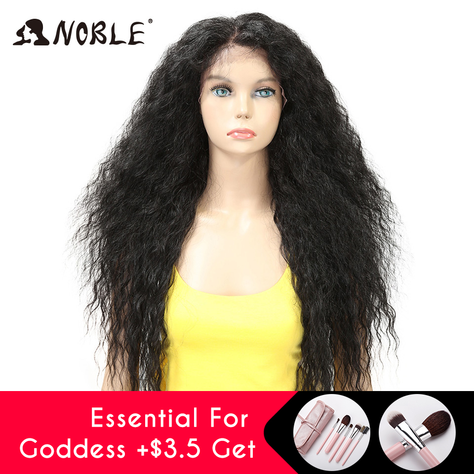 Noble Cosplay Lace Front Ombre Blonde Wig 30 Long Wavy Red African American Synthetic Wigs For Women Synthetic Lace Front Wig