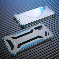 R-just Armor métal étui pour samsung Galaxy Note 10 S10 S9 S8 Plus S10 Lite 5G housse antichoc pour Galaxy Note 8 9 S7 Edge