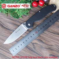 Ganzo g727m fb727s firebird 58 60hrc 440c g10 ou punho de madeira faca dobrável sobrevivência ferramenta de acampamento bolso faca tático ferramenta edc|ganzo g727m|pocket knife tactical|folding knife -