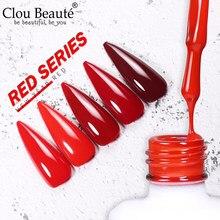 Clou beauté – vernis à ongles UV, série rouge, semi-permanent, hybride, Gel néon, 15 ml