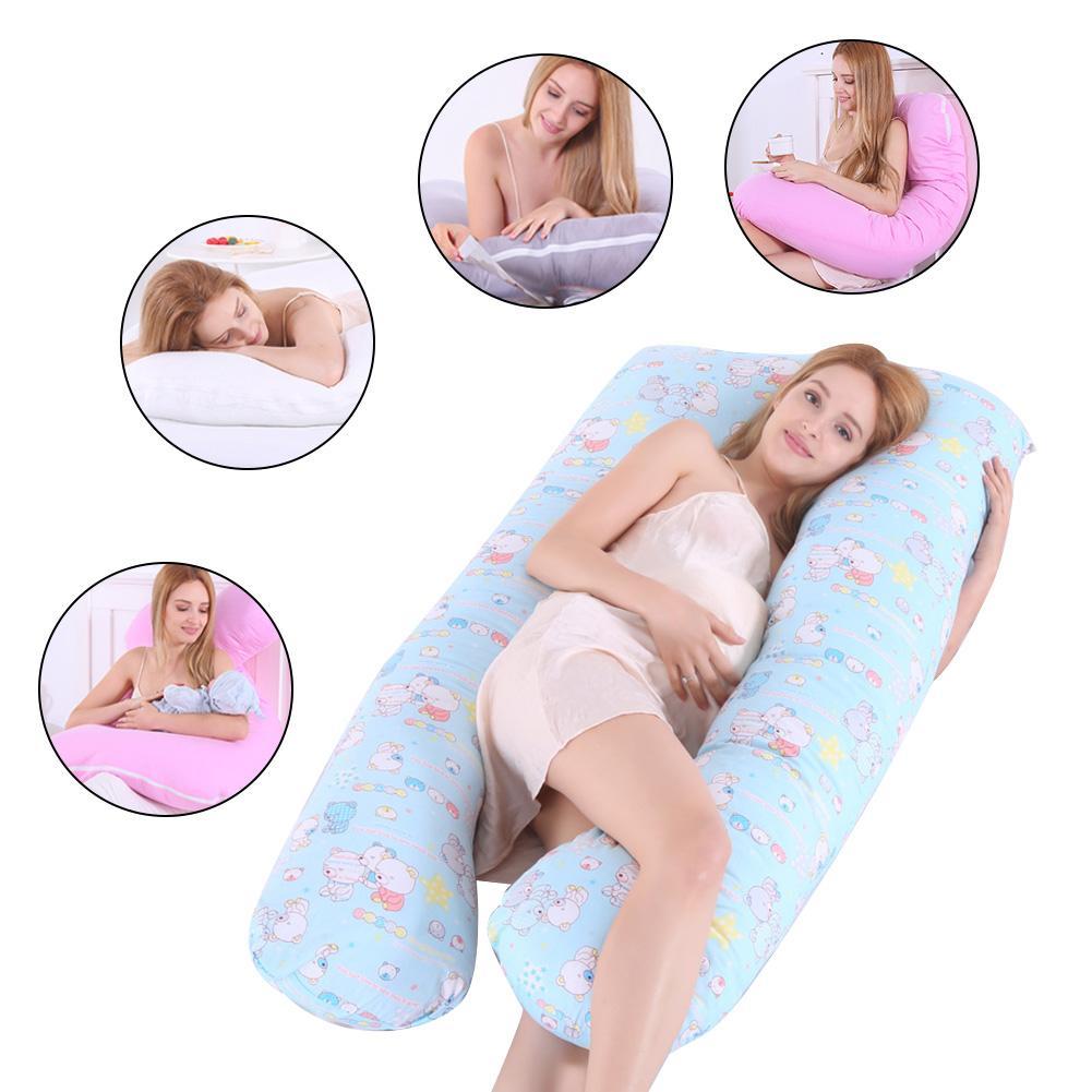 Pregnancy Pillow Case Side Sleeper 70*130 Cm Big Size Women Pillowcase Case Cotton Comfort Soft Cover U-Type Maternity Pillows