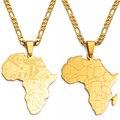 Ожерелья Anniyo кулон Карта Африки для женщин и мужчин, украшения африканских стран, карта африканской страны, флаг, золотой цвет, ювелирные из...