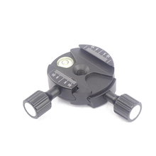 FC DDB60 le plus ajusté bidirectionnel 90 degrés pince de serrage rapide vis bouton de serrage double pince arca swiss compatible trépied Ballhead