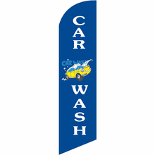 Custom CAR WASH Graphic Beach Flag Free Ship Knitted Polyester Banner Swooper Single Sided Feather Hot