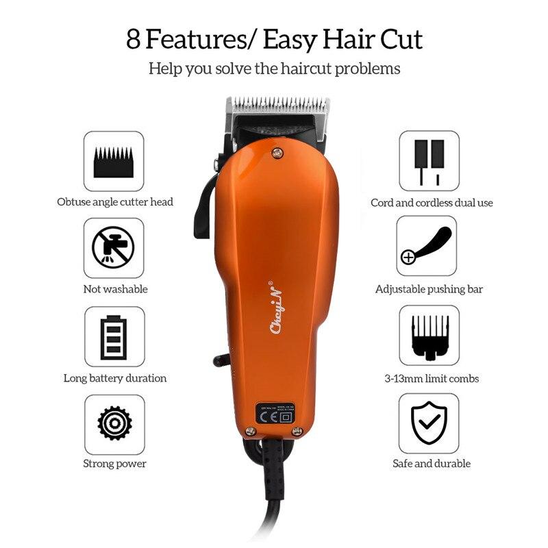 Hair Clipper Electric Hair Trimmer Men Stainless Steel Blade Hair Cutter Rechargeable Beard Trimmer Haircut Machine Barber Tool