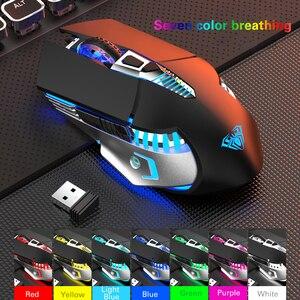 Image 5 - Wiederaufladbare Bluetooth Wireless Gaming Maus mit Seite Tasten 3 Modi (BT5.0, BT 3,0 und 2,4G) ergonomische Mäuse für PC Laptop