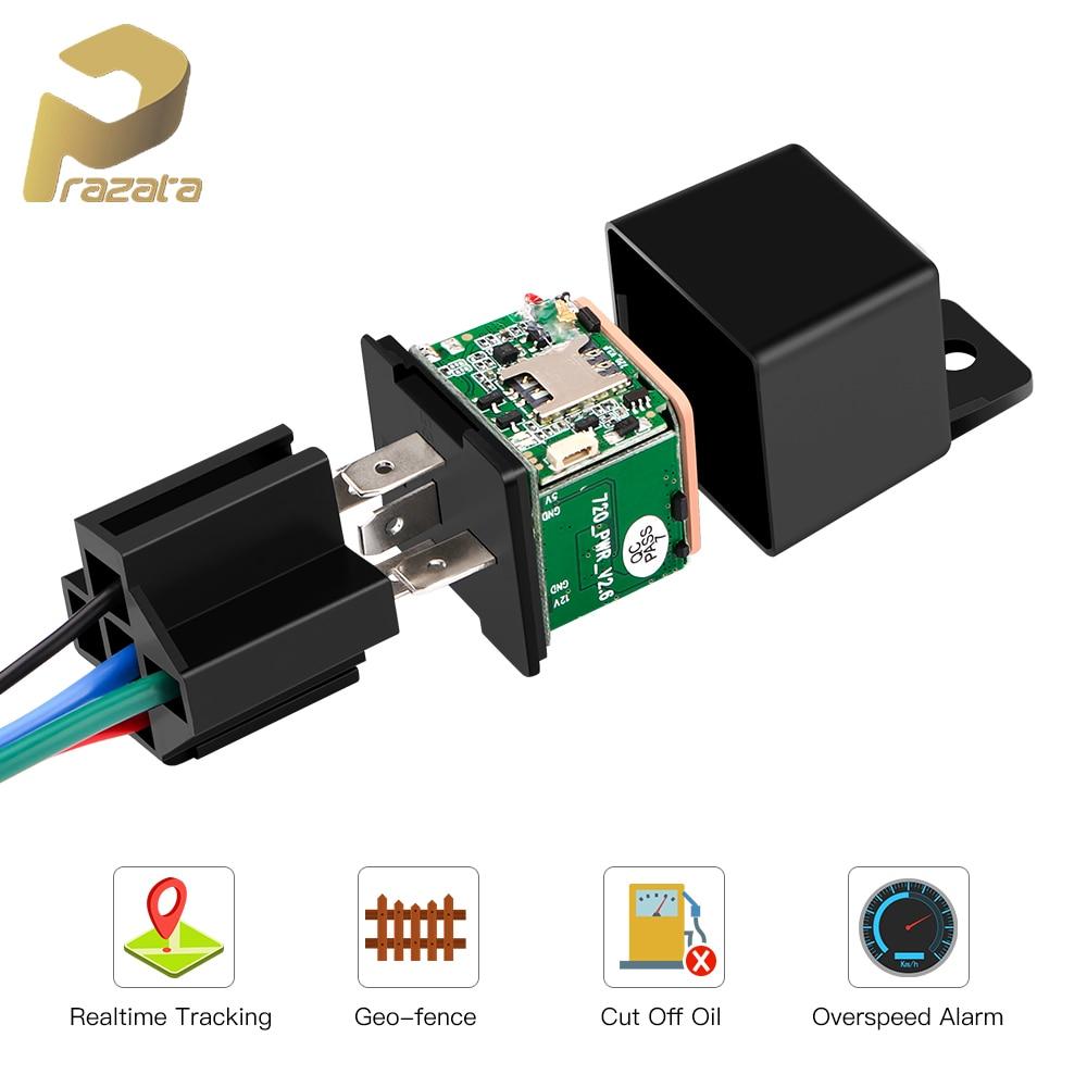 TKSTAR Relay Mini GPS Tracker GSM Car GPS Locator Cut Off Fuel Hidden Design Car Tracker Google Maps Track Shock Alarm Free APP