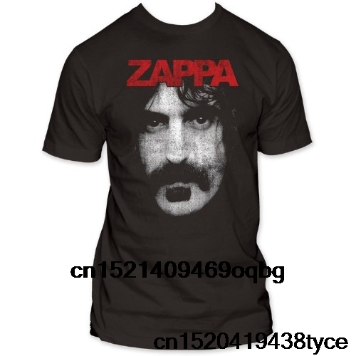 Fashion T Shirts Summer Straight 100% Cotton Impact Frank Zappa Photo Jersey T Shirt