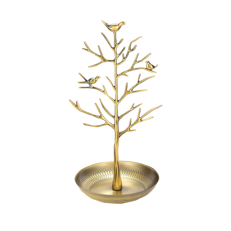 Hot Sale Jewelry Display Stand Rack Tree Bird Stand Iron Necklace Earring Holder Bracelet Fashion Organizer