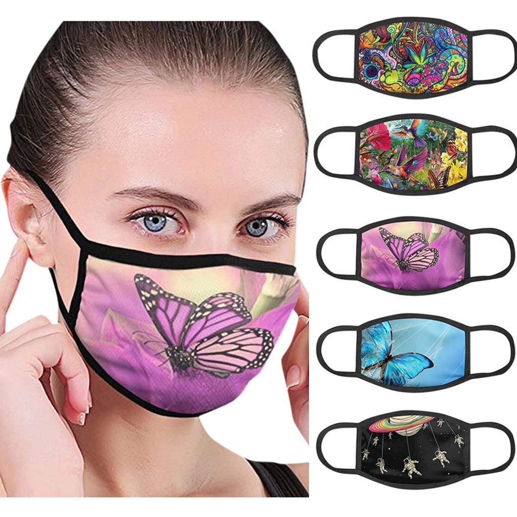 Reusable Mouth Mask Face Mask PM2.5 Fashionable Anti-Dust Face Mask Windproof Mouth Mask Adults Face Mask Washable Universal