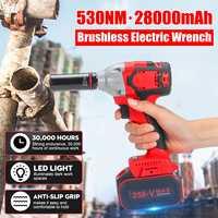 """Clé électrique sans fil d'impact de 21V 8AH 530Nm 28000mah couple voiture de ménage/roue de SUV 1/2 """"outil électrique de clé à douille"""