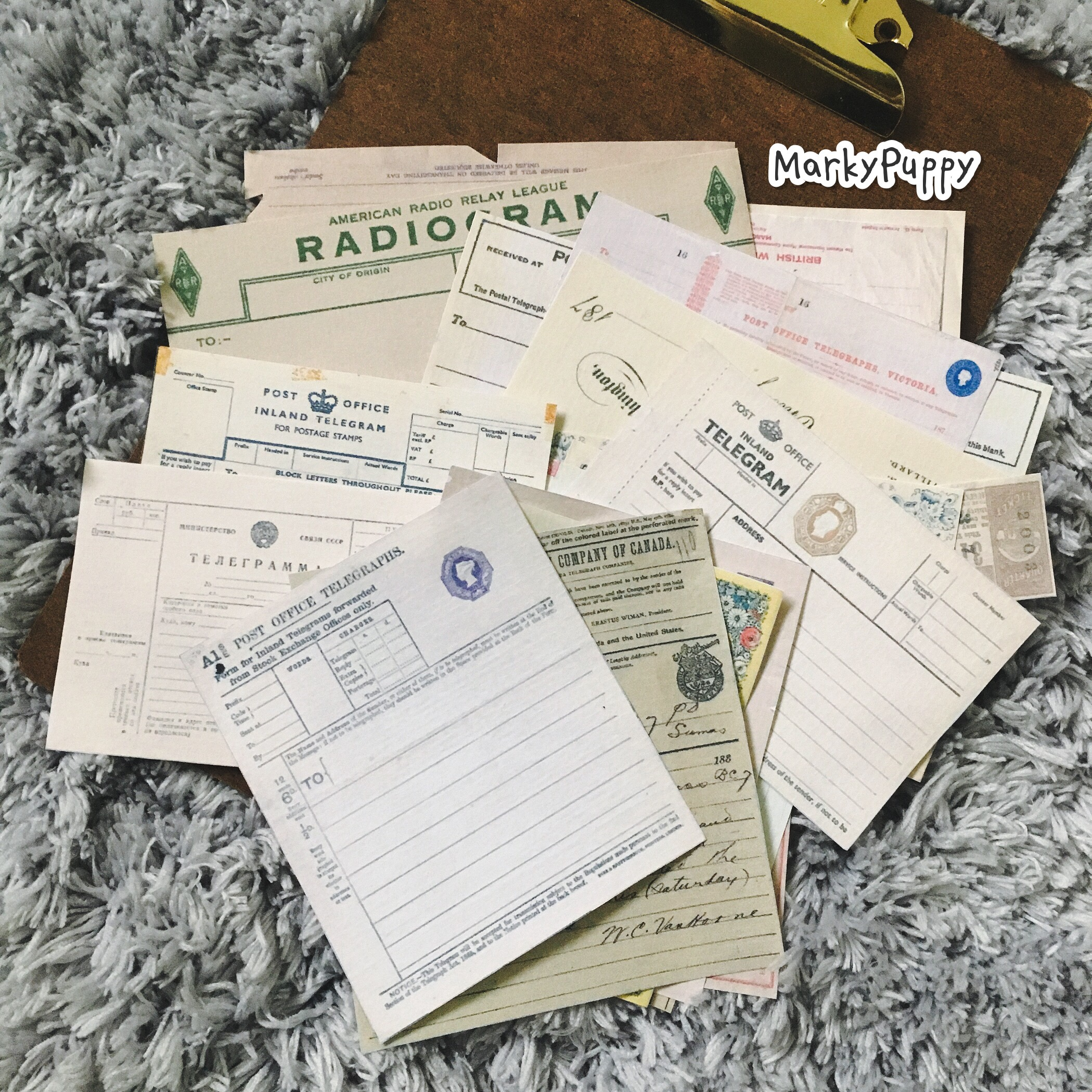 20 PCS\SET Vintage Bill\Old Receipts\Retro Telegrams For Daily Planning Background Design Decoration Material Junk Journal Paper