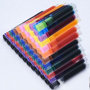 12colored ink catrdige for fountain pen /roller pen ,dia 3.4 tinta чернила для ручки чернила для перьевой ручки