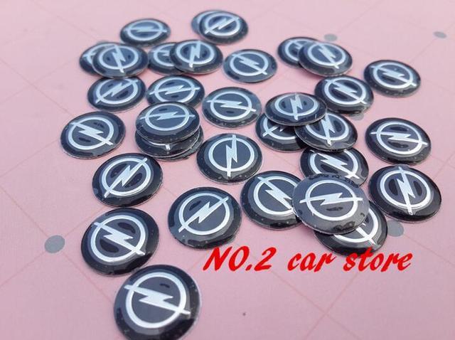 10 pçs 14mm carro remoto chave fob emblema emblema botão de rádio adesivo substituição para alfa romeo citroen suzuki fiat peugeot
