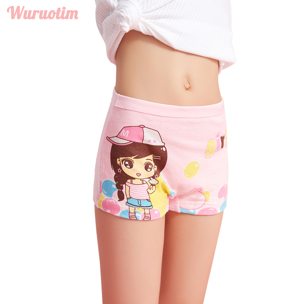 4 Pcs/lot New Children Cotton Panties Girls Underwear Cute Cartoon Printed Baby Girls Kids Boxers Briefs Soft Panties For Girl