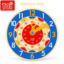 Toi для раннего развития детей часы старше 3 лет деревянные