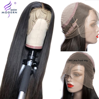 Peruvian 360 Lace Frontal Wigs Straight Remy Human Hair Wig Pre Plucked With Baby Hair Modern Show Hair 150% Density